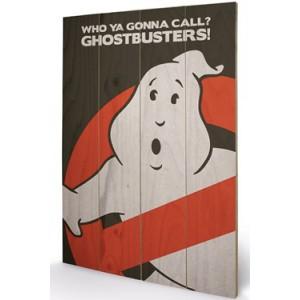 Panneau bois Ghostbusters Logo 40x60cm