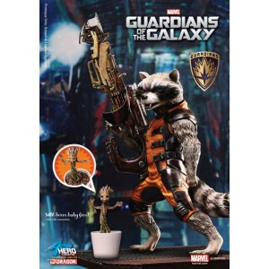 Statuette Rocket Raccoon PVC Action Hero Vignette 1/9 18 cm