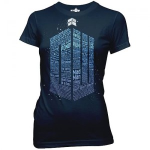T-Shirt Femme Doctor Who : Logo Of Words