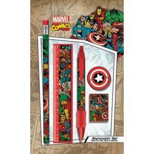 Set de papeterie Marvel Retro 5 pièces