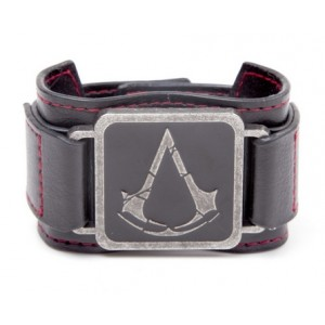 Bracelet en cuir Assassin's Creed Rogue - Metal Crest