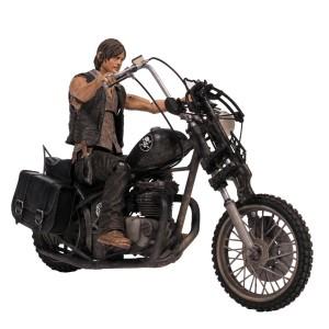 Figurine Daryl Dixon sur sa moto / chopper 13cm