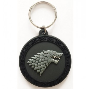 Porte-clé Stark 5cm caoutchouc Game Of Thrones