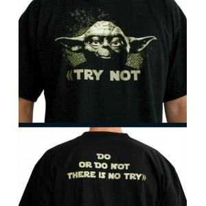 T-Shirt Star Wars : Yoda Try not