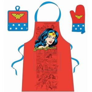 Set de cuisine visage de Wonder Woman