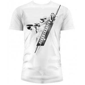 T-shirt Stormtrooper Blaster Blanc - Star Wars Episode VII