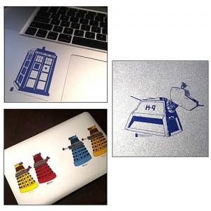 Lot de 6 autocollants Doctor Who