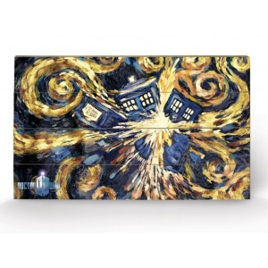 Tableau en bois Exploding Tardis 40x60cm - Doctor Who