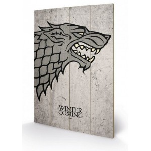 Tableau en bois Stark Game Of Thrones 40x60cm
