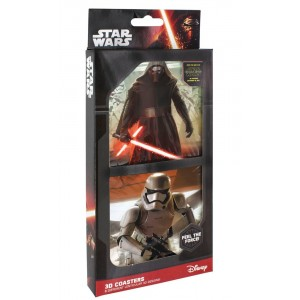 Set de 8 sous-verres Star Wars Episode VII 3D