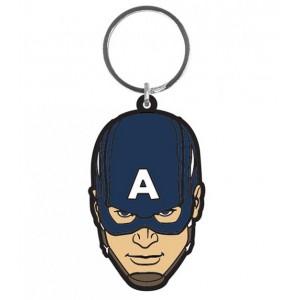Porte-clés Captain America 6cm caoutchouc