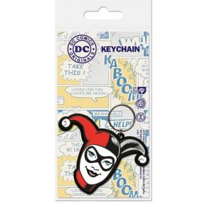 Porte-clés Harley Quinn 6cm en caoutchouc