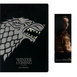 Carnet et marque-page Stark de Game Of Thrones