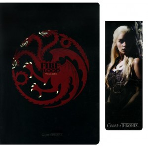 Carnet et marque-page Targaryen de Game Of Thrones