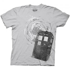 T-shirt Doctor Who : Tardis en détresse