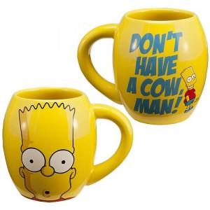 Mug Bart Simpson Don't have a cow man!