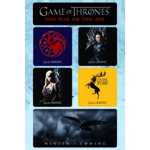 Set de 6 aimants 2 Game Of Thrones