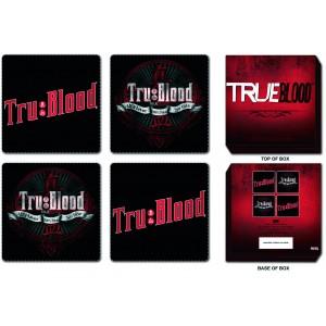 4 sous-verres True Blood : logo Tru Blood
