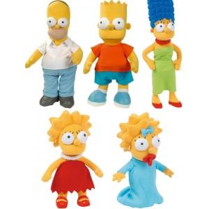 Peluches Marge, Homer, Bart, Lisa & Maggie Simpson 31 à 38cm