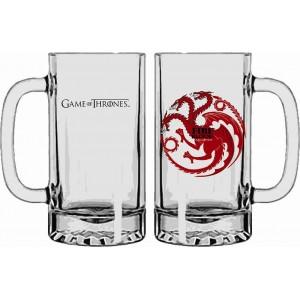 Chope Targaryen de Game Of Thrones en verre