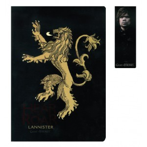 Set carnet et marque-page magnétique Lannister