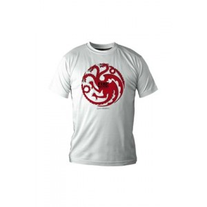 T-shirt blason Targaryen blanc - Game Of Thrones