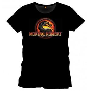 T-shirt Mortal Kombat noir : Logo Dragon