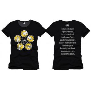 T-shirt Rock Paper Scissors Lizard Spock - Big Bang Theory