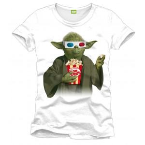 T-Shirt Star Wars Yoda Pop Corn