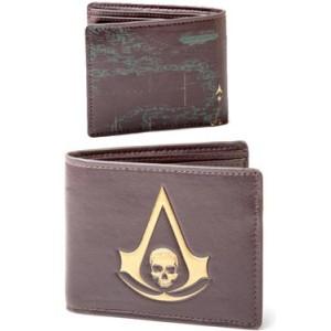 Portefeuille Assassin's Creed IV Skull Crest Logo en cuir