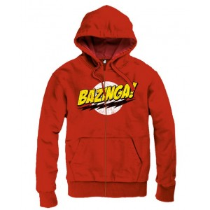 Sweater à capuche Bazinga rouge - The Big Bang Theory