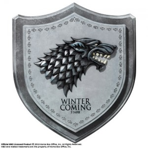 Écusson mural Maison Stark de Game Of Thrones