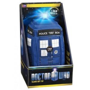 Peluche sonore du Tardis de Doctor Who - 23 cm