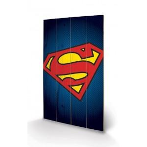 Tableau Bois 46x77cm Superman
