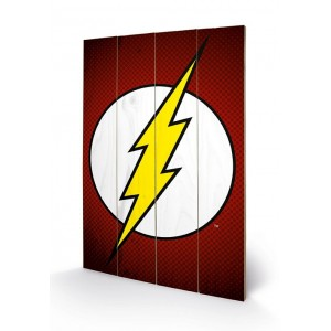 Wooden Wall Art The Flash Symbol 40x60 cm - DC Comics