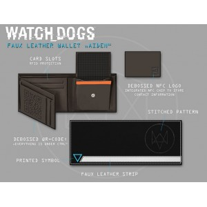 Porte-monnaie Watch Dogs Tri-Fold Hacker NFC