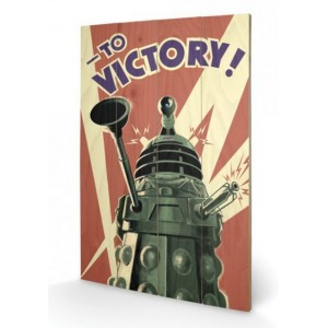 Tableau en bois Dalek 40x60cm - Doctor Who