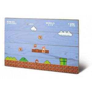 Tableau en bois Super Mario - 60x40cm