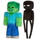 Peluches Zombie et Enderman de Minecraft
