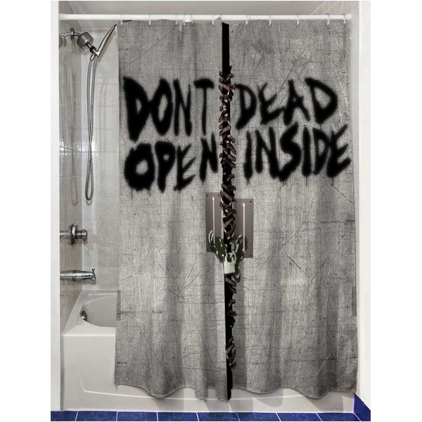 Rideau de douche walking dead dead inside - Rideau de douche minnie ...