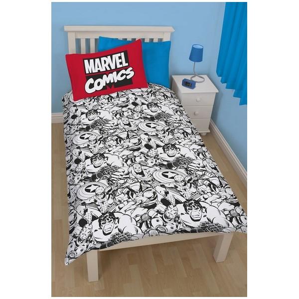 parure de lit marvel comics r versible 135x200cm defenders. Black Bedroom Furniture Sets. Home Design Ideas