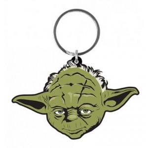 Porte-clés Yoda en caoutchouc de 6 cm