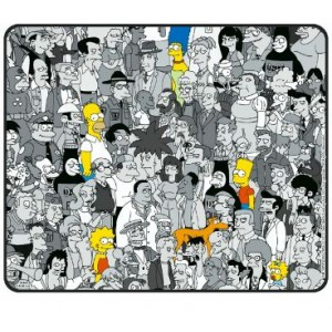 Tapis de souris The Simpsons, le cast