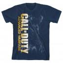 T-shirt Call Of Duty Modern Warfare bleu golden