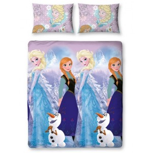 Duvet Set Reversible Crystal 135 x 200 cm / 48 x 74 cm - Frozen