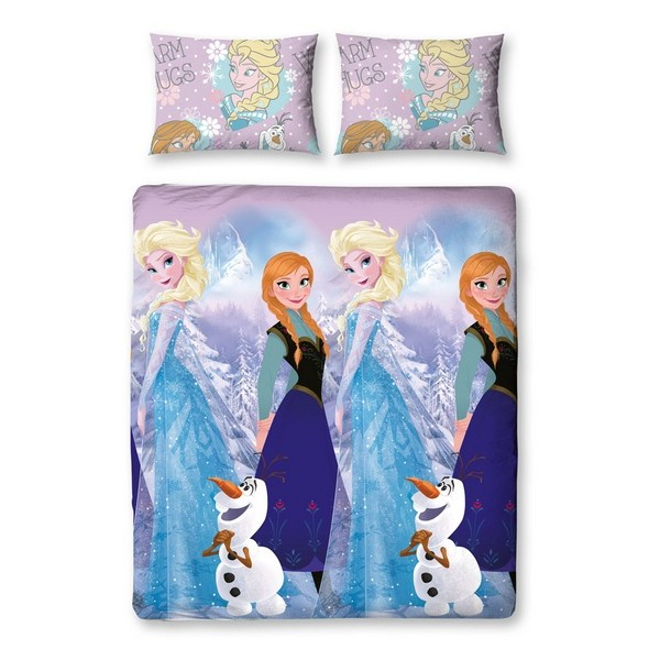 parure de lit la reine des neiges frozen 135x200cm. Black Bedroom Furniture Sets. Home Design Ideas