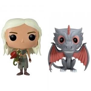 Pack de 2 figurines Pop! :  Daenerys Targaryen & Drogon