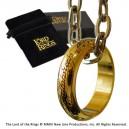 Réplique de l'Anneau Unique plaqué or - Le Seigneur des Anneaux