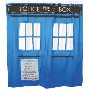 Doctor Who rideau de douche Tardis