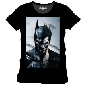 T-shirt Mi-Batman Mi-Joker - Arkham Origins